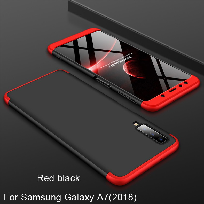 For Samsung Galaxy A7(2018) 3 in 1 Combo 360° Full Protection Hard PC Phone Case | Shopee Indonesia