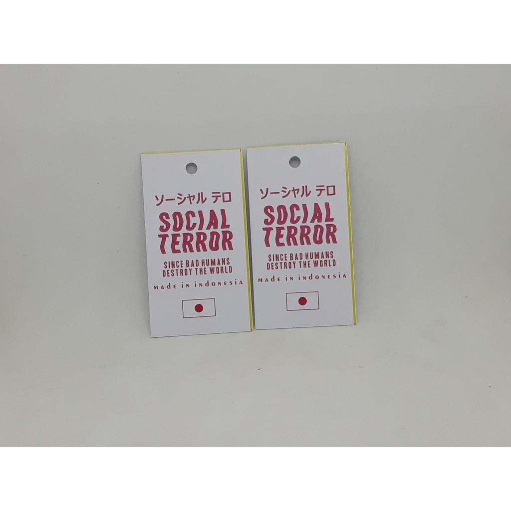 Paket 10pcs Hangtang & Label Murah 10 sisi untuk Baju/Hijab/Kaos/Tas/Dll  Bebas Desain 10