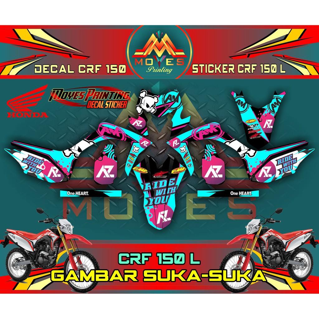 Decal Honda Crf 150 L Sticker Variasi Motor Crf 150 Design Keren Abis Shopee Indonesia