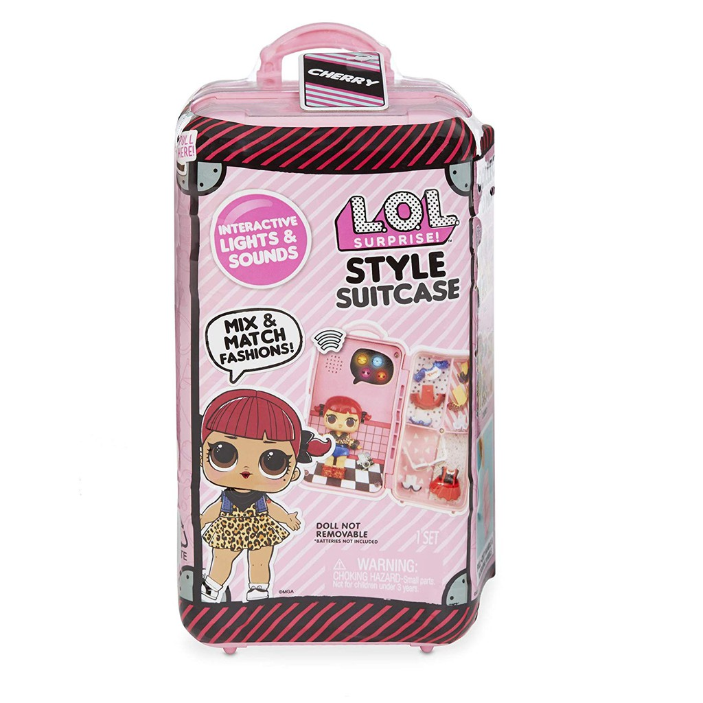 lol surprise style suitcase electronic playset cherry