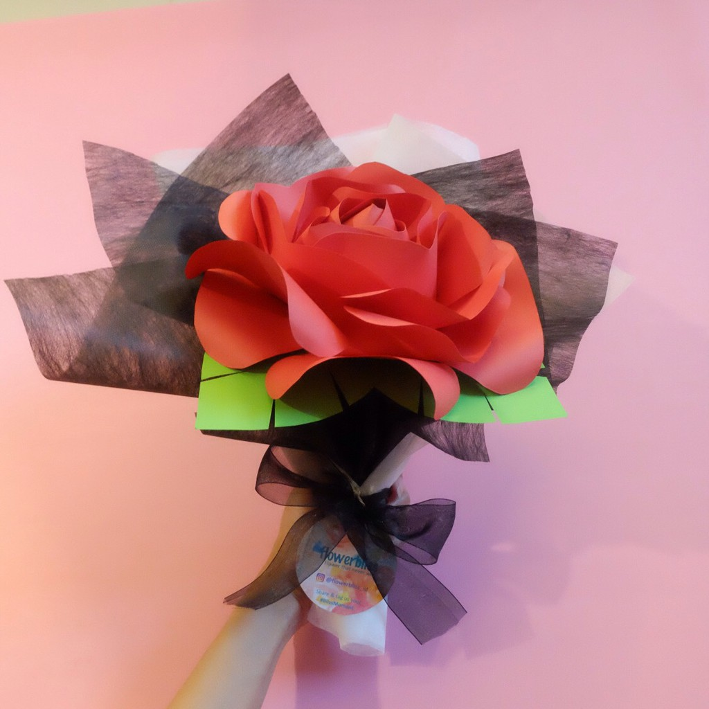 Buket Bunga Mawar Kertas Shopee Indonesia
