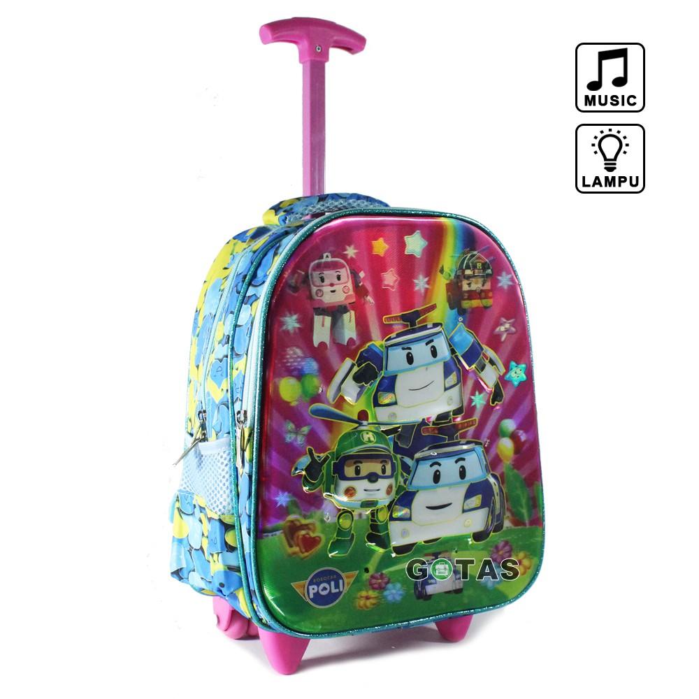 Tas Ransel Anak Sekolah TK Lampu Music Karakter Frozen 7D Timbul 2 Kantong Pink Full Motif | Shopee Indonesia