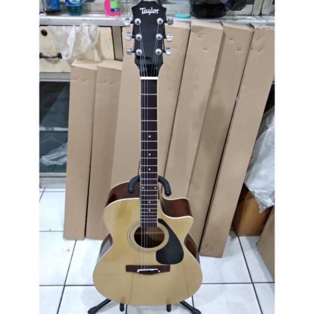 Gitar Akustik Natural Merk Taylor Murah Bonus Softcase Dan Pick