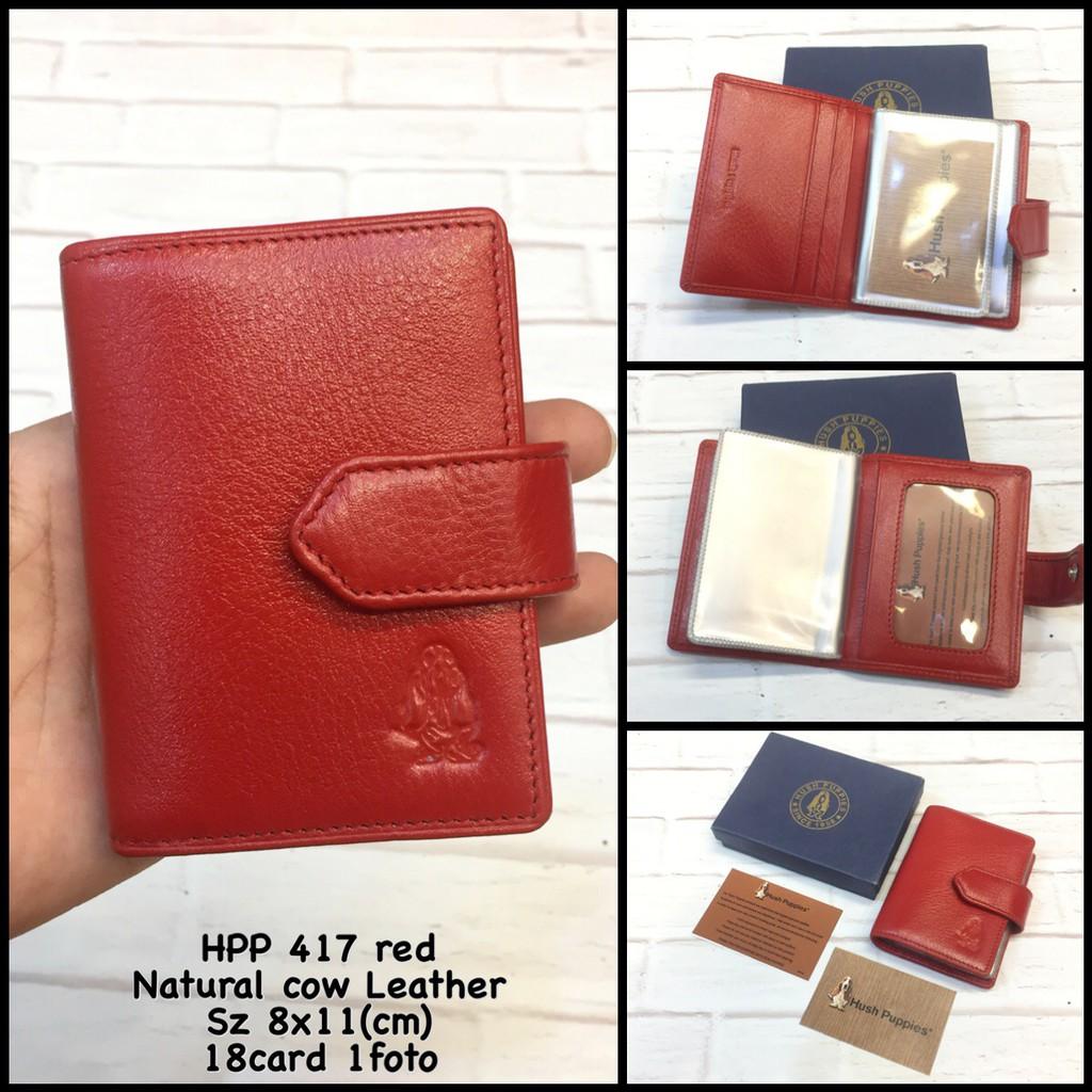 card holder hush puppies tan dompet kartu kulit dompet kartu tempat atm  kartu korea kartu pria cewek  21f5753484
