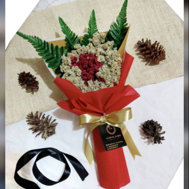 Bouquet Edelweis Bunga Edelweis Rangkai Bouquet Murah Buket Bunga Shopee Indonesia