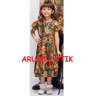 Dress Terusan Baju Batik Anak Perempuan 1376 2 12 Tahun Balita