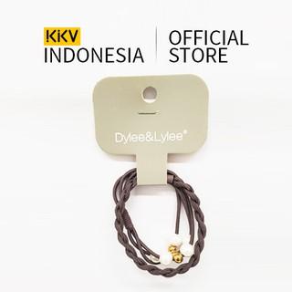 KKV - Dylee&Lylee Weave pearl pattern combination Aksesoris Rambut Karet Rambut Hairband thumbnail