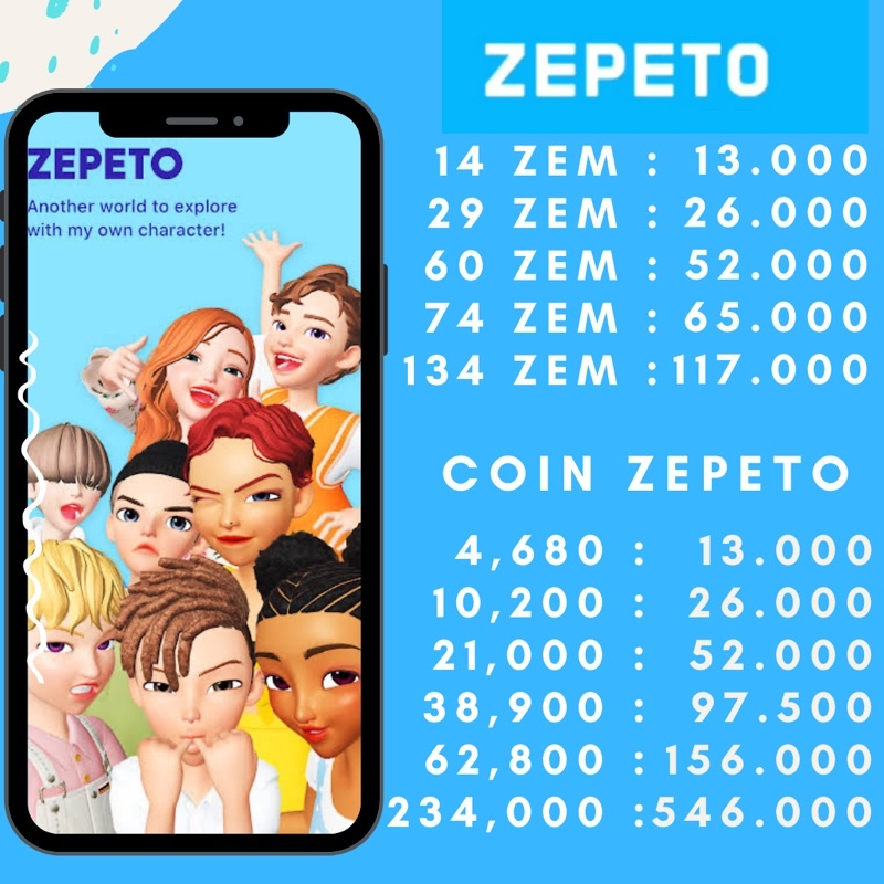 TOP UP ZEM ZEPETO & COIN ZEPETO VIA LOGIN LEGAL