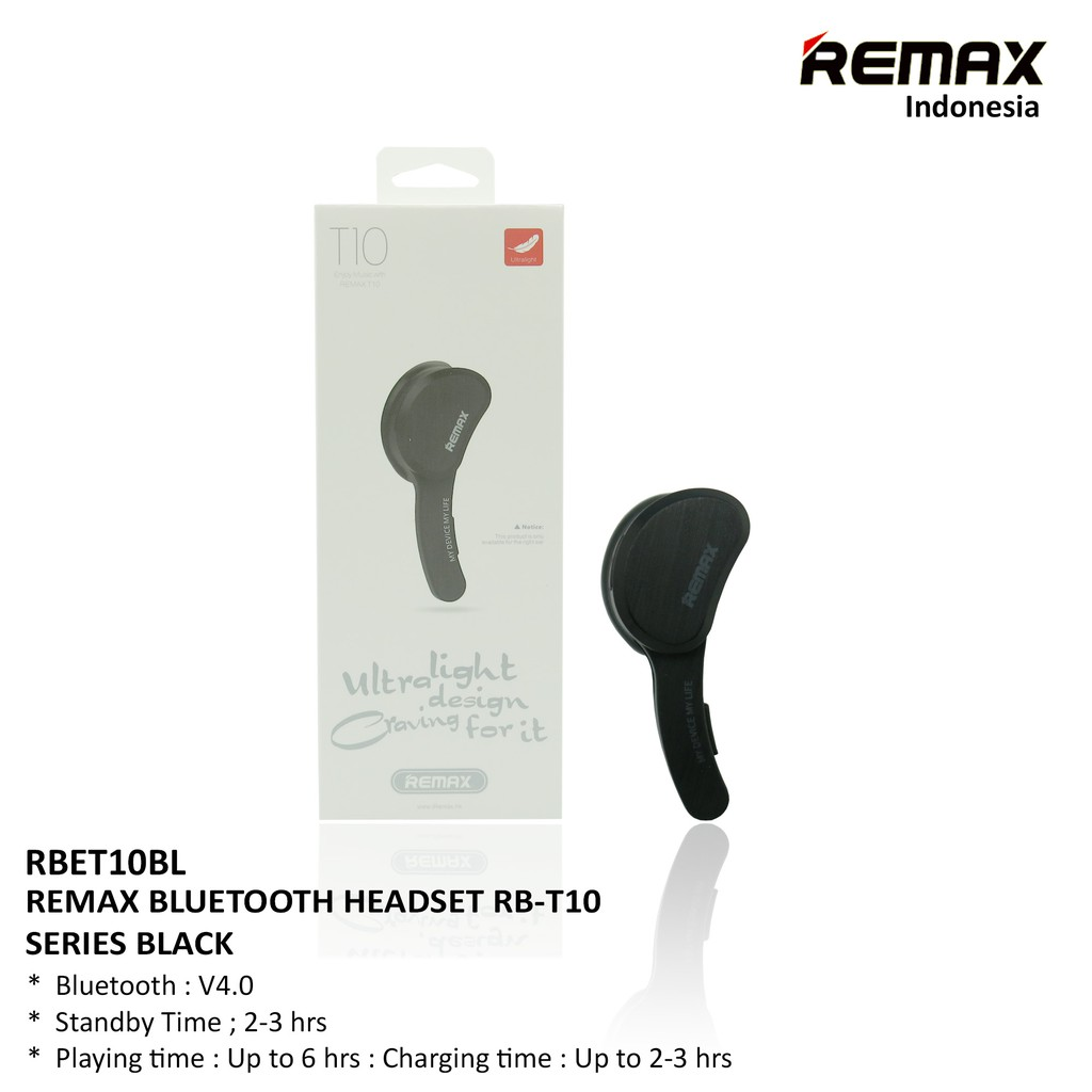 Headset Handsfree Bluetooth Remax Smart Rb T10 Murah Shopee Clip On Earphone Receiver T12 White Putih Indonesia