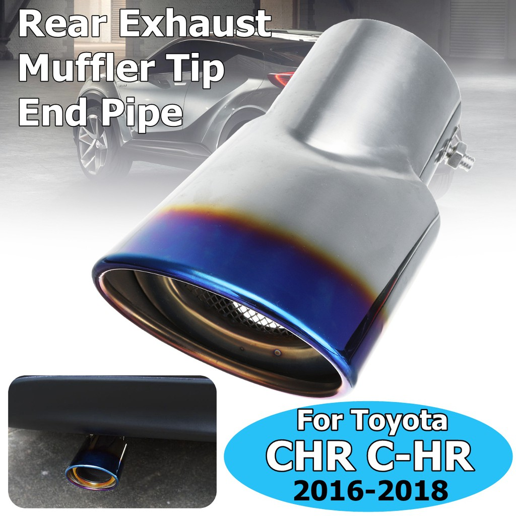 Pair Car Black Stainless Steel Exhaust Muffler End Tip Fit for Toyota Camry