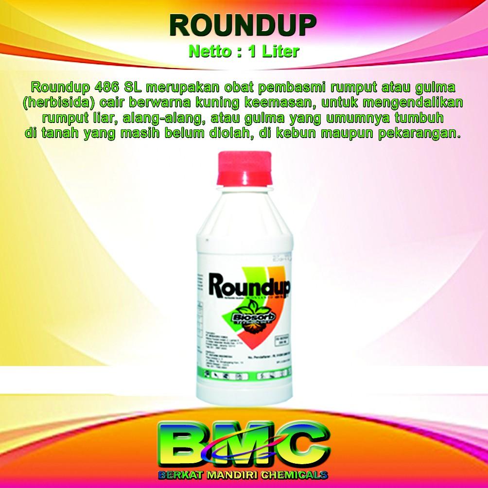Racun Herbisida Pembasmi Rumput Dan Gulma Roundup 1ltr Spec Gramoxone 276sl 1 Liter Liar 486sl