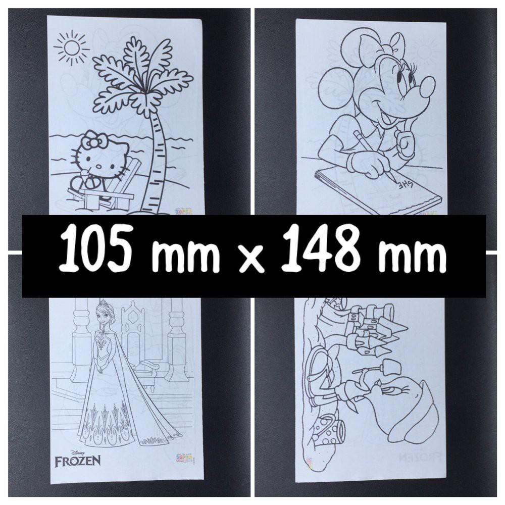 Kertas Mewarnai Gambar Karakter Kartun Anak Warna Coloring Bukan Buku Murah