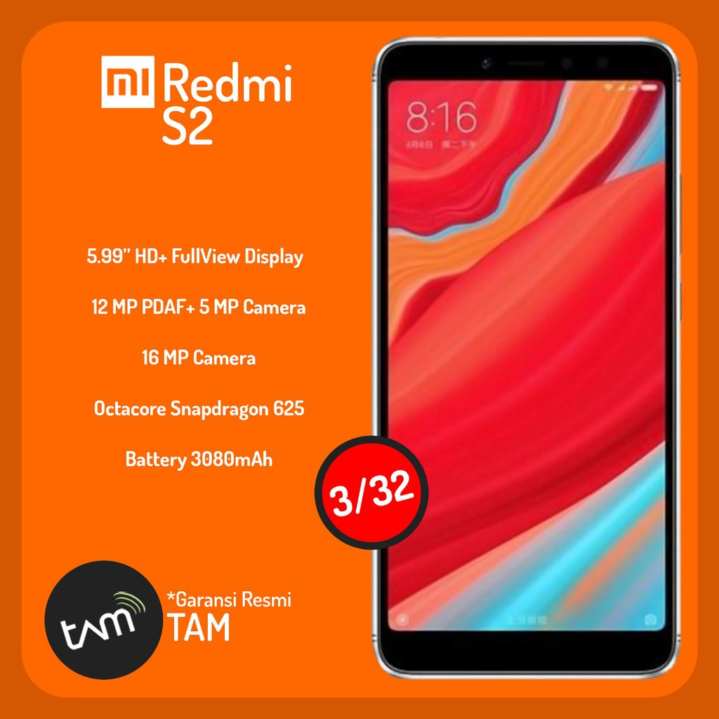 Xiaomi Redmi S2 3gb 32gb Garansi Resmi Tam Shopee Indonesia 5 Ram 3 Internal 32