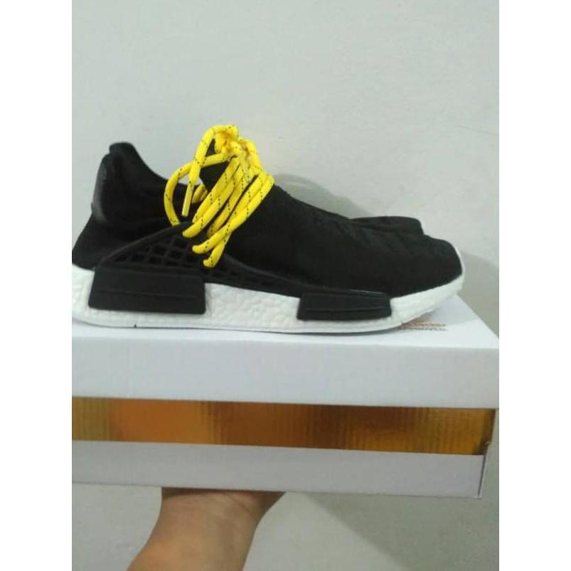 a3fa4b54e New Product Adidas Nmd Human Race X Pharrell Williams Black White Stok  Terbatas