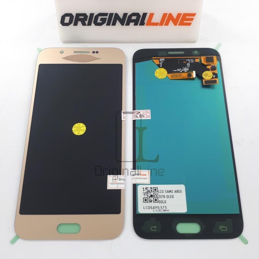 LCD + TS SAMSUNG A800 / A8 2015 ORIGINAL OLED FULL GLASS