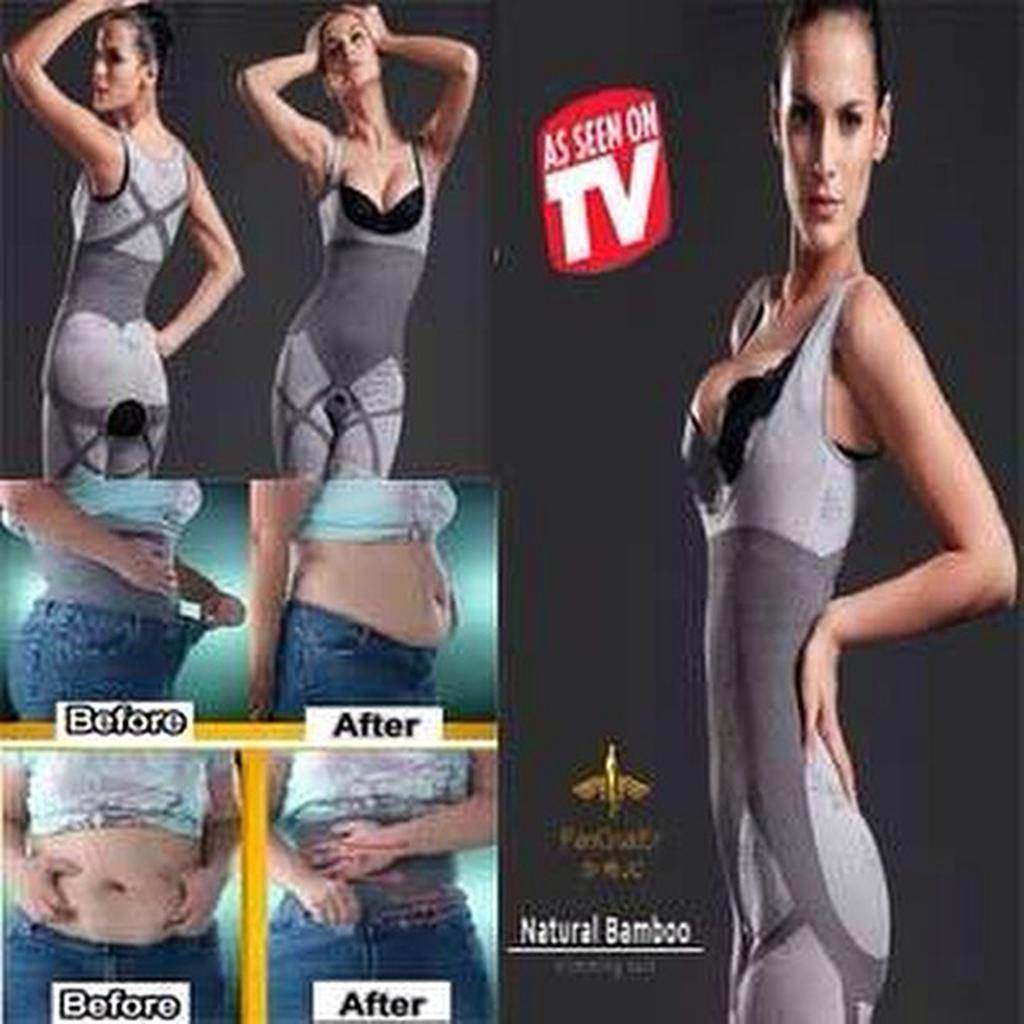 Natural Bambu Korset Baju Celana Pelangsing Spt Kozuii Slimming Suit Bambo Shopee Indonesia