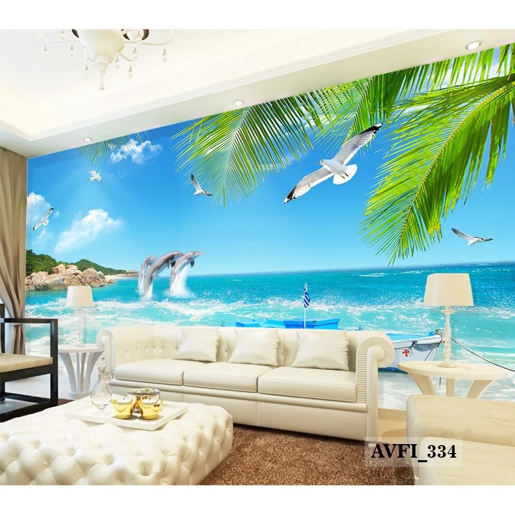 Jual Wallpaper Custom Pemandangan Alam Murah Wallpaper Pantai 3d