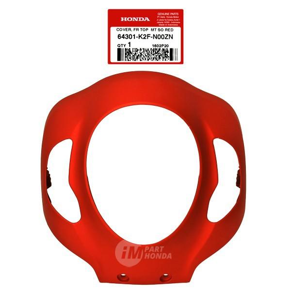 Cover Front Panel Lampu Depan Scoopy eSP K2F Merah DOF 64301-K2F-N00Z