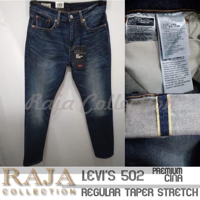 Celana Levi's Premium Selvedge 502 Original Regular Taper Strech Jeans bagus/murah/berkualitas