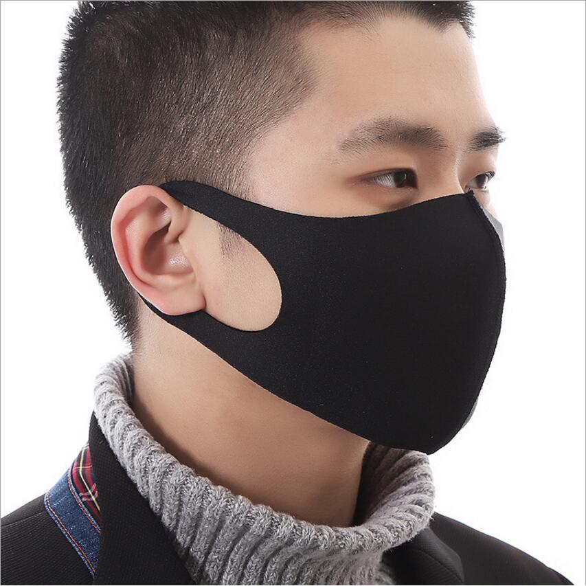 Masker Mulut/Hidung Print Kartun Hewan Aksen Telinga 3D Anti Angin Bahan Katun untuk Outdoor
