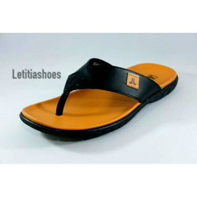 Sandal Pria Kulit Jim Joker Original BEN 1S Black  2270c55654