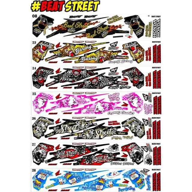 Sticker Striping Variasi Honda Beat Street 2016 2019 Beat Street 115 Lama Shopee Indonesia