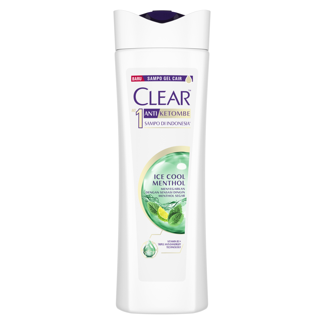 Clear Shampoo Ice Cool Menthol 300 Ml - Shampoo Anti Dandruff, Sampo Anti Ketombe-1