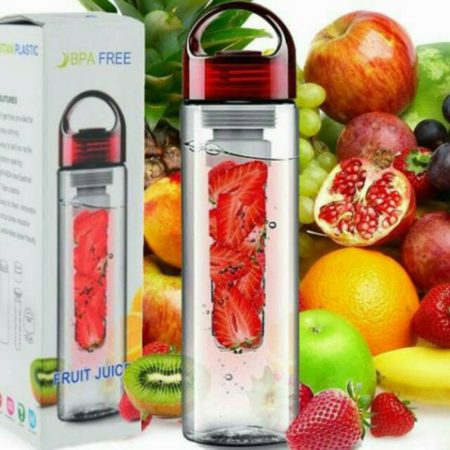 Tritan Infuser Fruit Water Bottle G1 | Botol Infused Buah | Botol infuse Air Minum | Shopee Indonesia