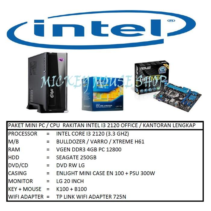 PC PAKET MINI PC / CPU RAKITAN INTEL I3 2120 OFFICE / KANTORAN LENGKAP