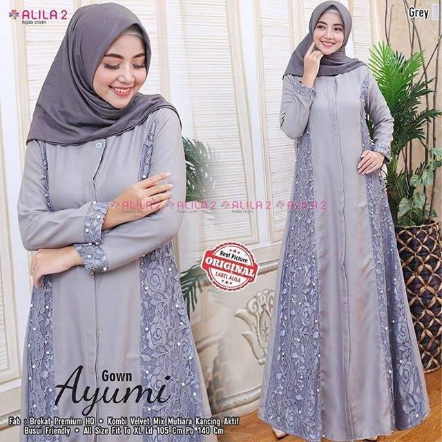 Dress Hijab Terlaris Dress Brokat Mix Velvet Murah Party Dress Wedding Dress Terbaru Gamis Shopee Indonesia
