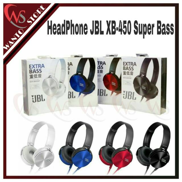 Headset JBL XB-450 Extra Bass # Headphone JBL XB450 Extra Bass | Shopee Indonesia