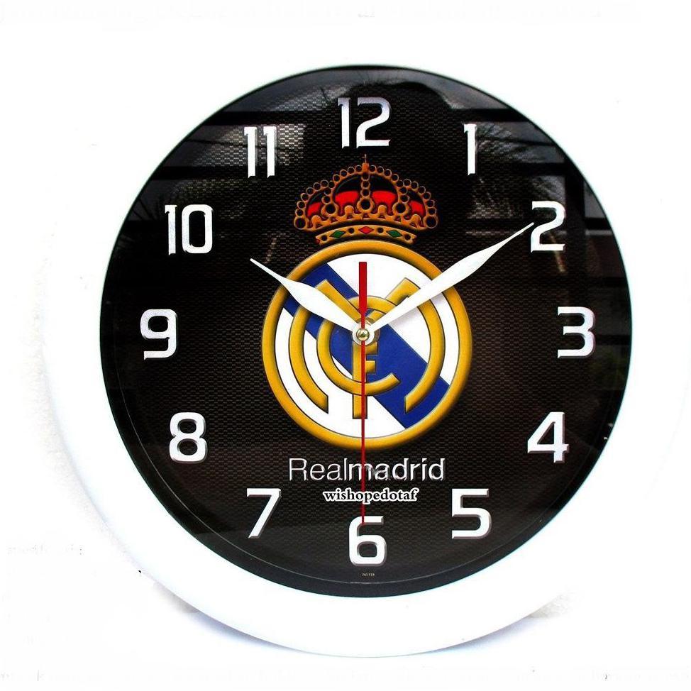Jam Dinding Lucu Karakter Kartun Kaligrafi Klub Bola Dll Real Madrid Hgf56