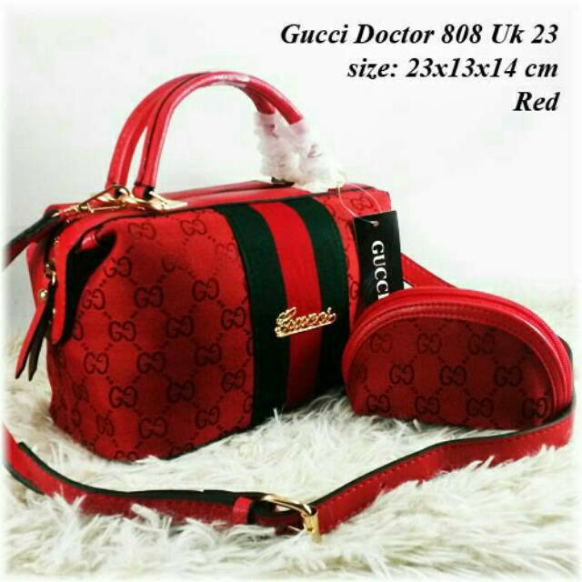 Tas Gucci-Tas Wanita Gucci Kanvas Cervo 3in1  7dd362f079