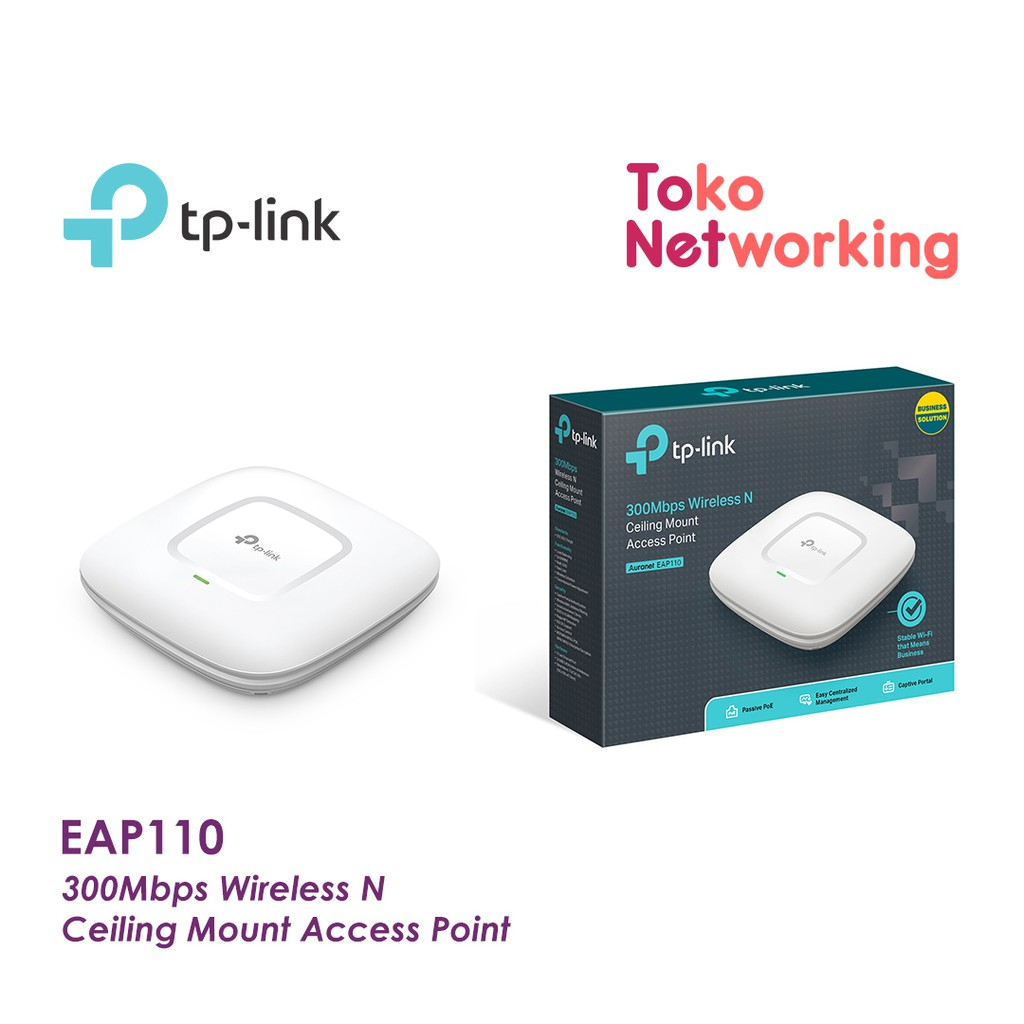 Tplink Eap110 Wireless Ap Ceiling Mount Shopee Indonesia Tp Link Access Point Eap 110