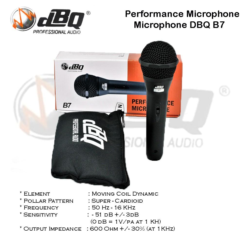 Microphone DBQ B7 / Mic DBQ B7 Performance Vocal Microphone