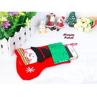 dekorasi natal hiasan pohon natal kantong hadiah bentuk