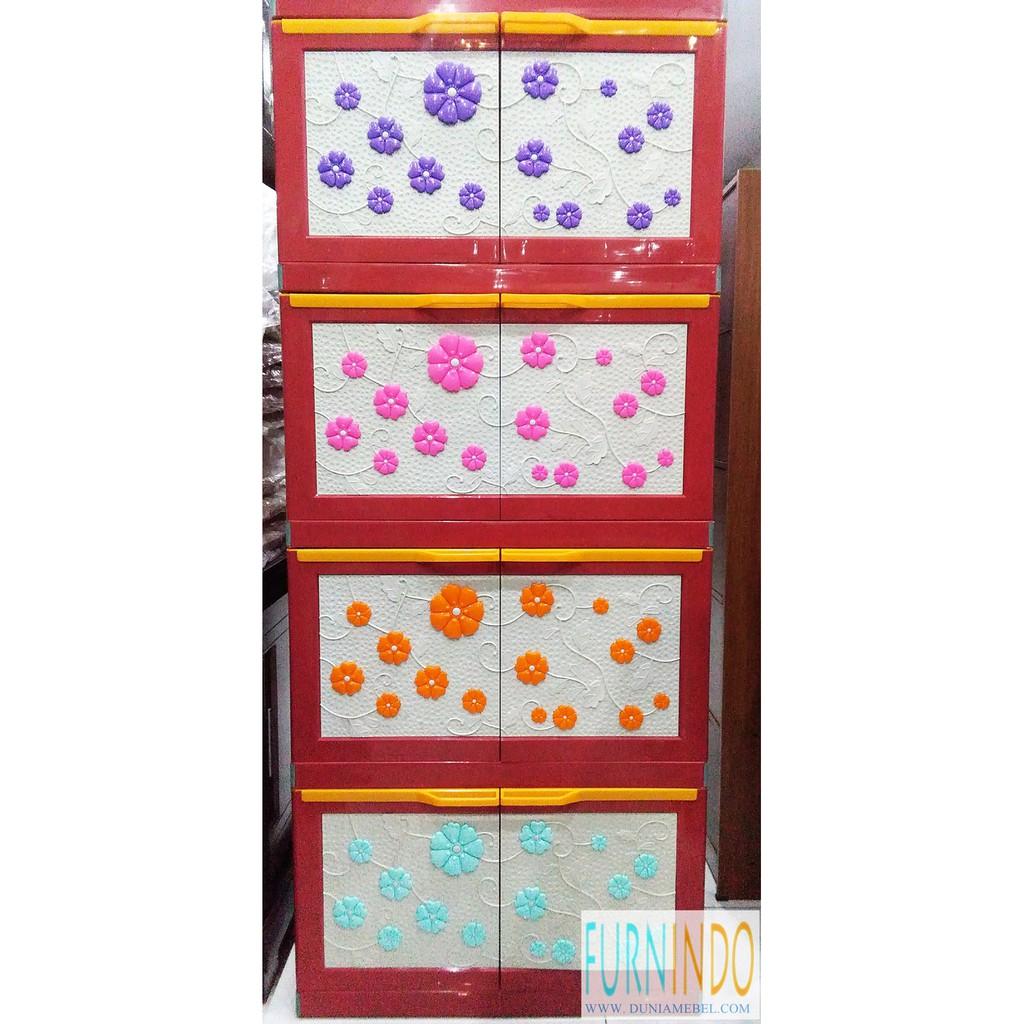 Lemari Plastik Mini Club Susun 5 Shopee Indonesia Miniclub 4 Cabinet Plasti