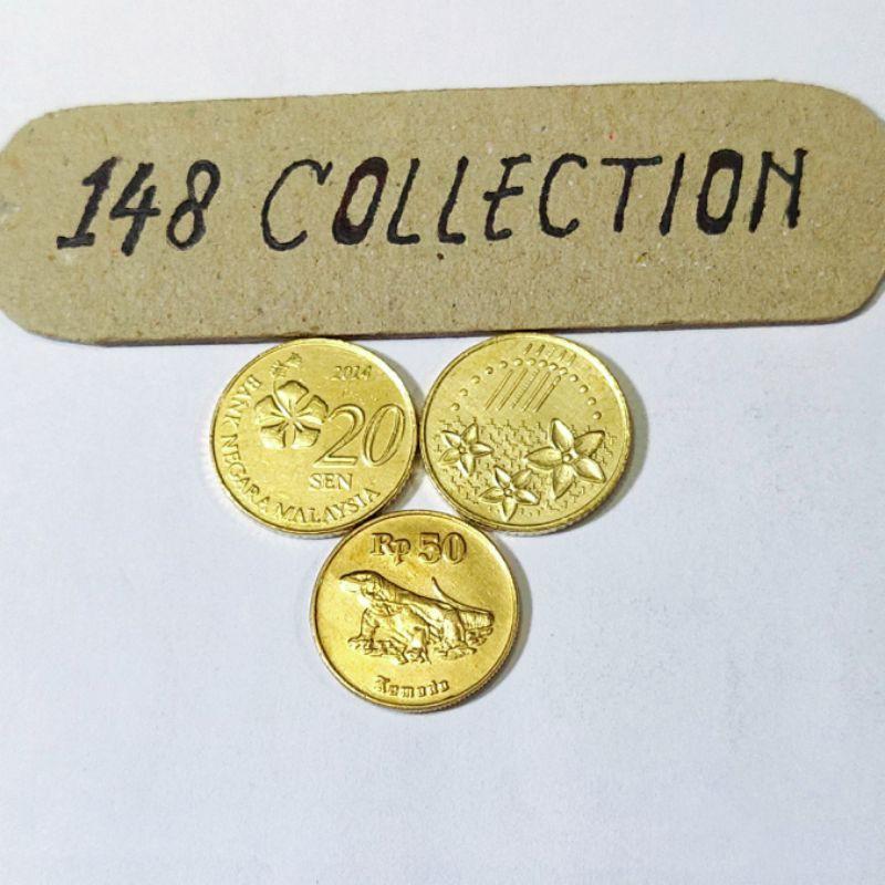 koin asing 20 sen Malaysia
