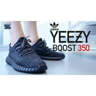 GROSIR Sepatu Adidas Yeezy Boost 350 Black Pirate Import Grade Original Pria  Wanita 595da05ac3