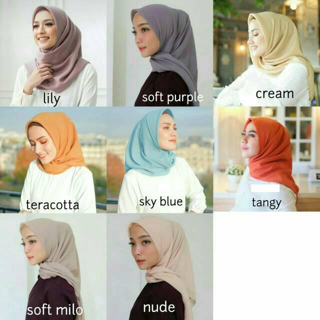 Bella Pearl Laudya Pearl Bella Square Laudya Square Hijab Voal