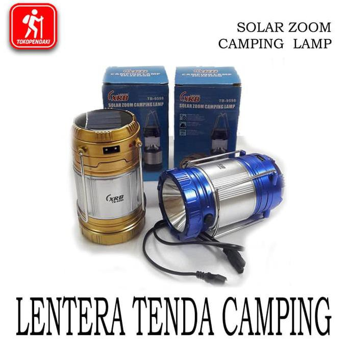 Lentera Tarik Lampu Tenda Camping | Senter Solar Cell + Power Bank Recharge | Shopee Indonesia