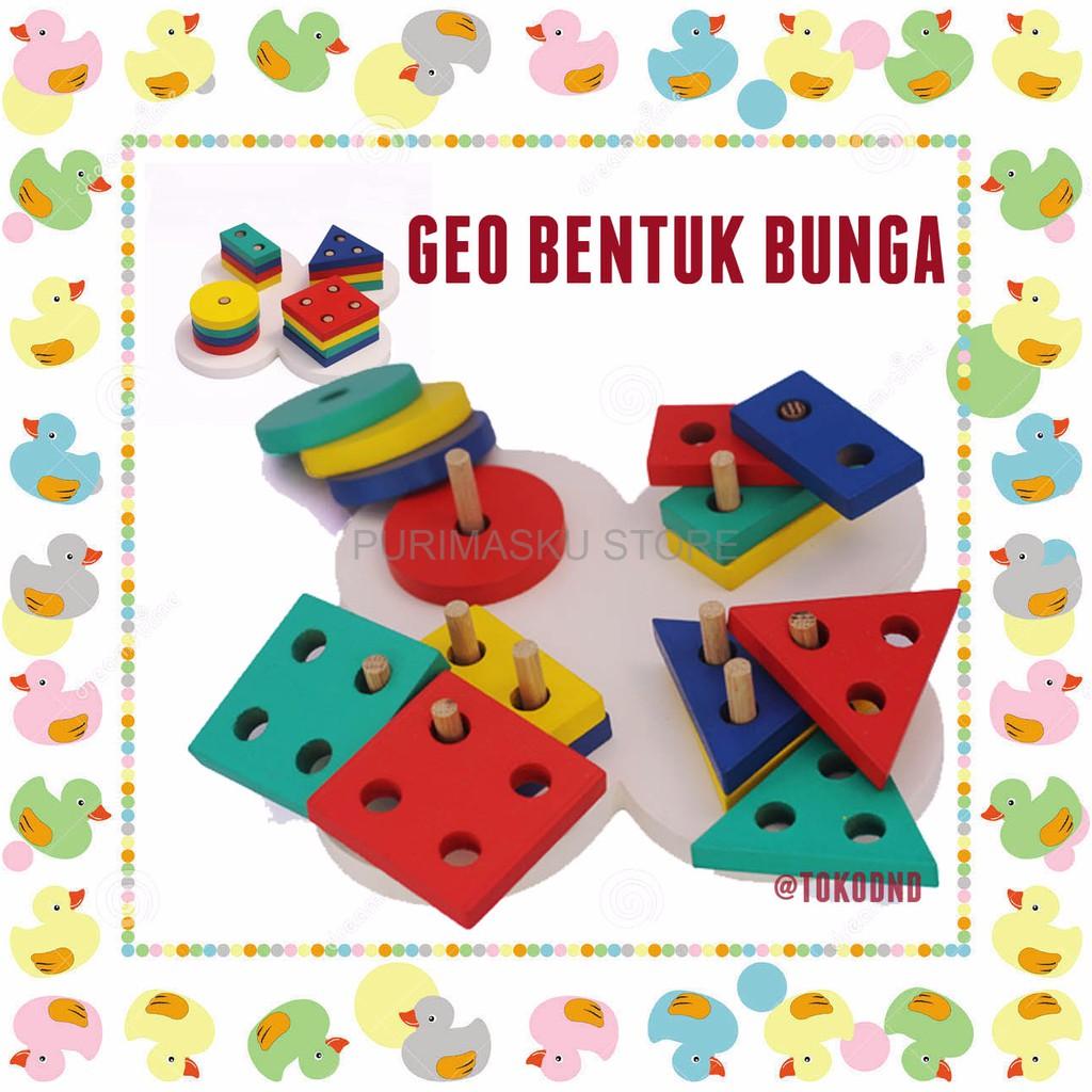 Promo Tahun Ini Mainan Edukatif Edukasi Anak Balok Kayu Palu Bola Ketok Luncur Pegs Shopee Indonesia