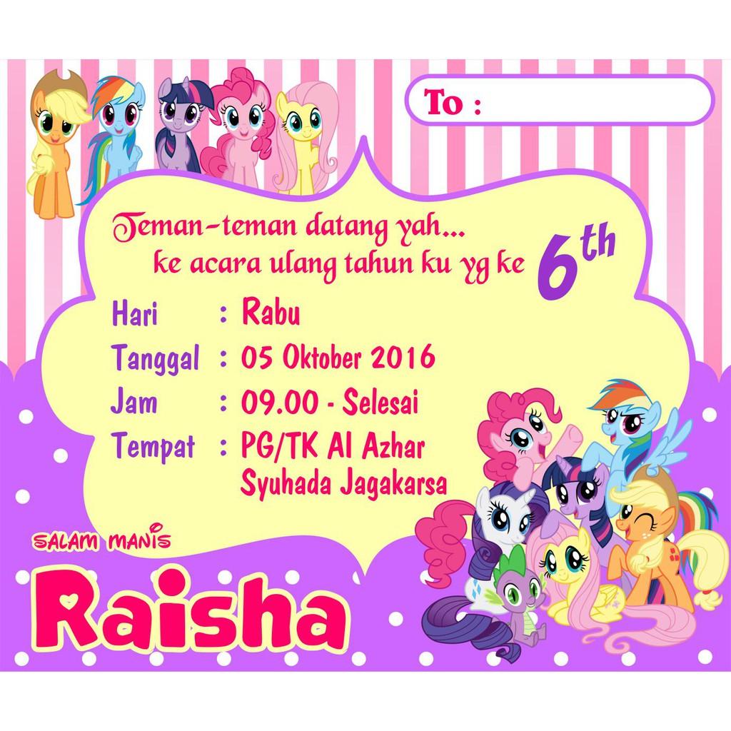 Kartu Undangan Ulang Tahun Anak Perlengkapan Pesta Ultah Party Supplies Pernak Pernik Online Wedding
