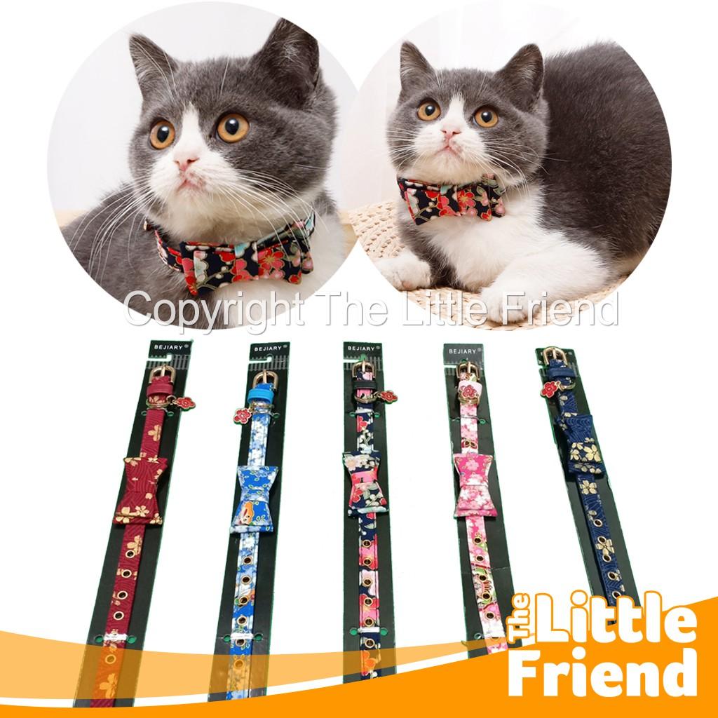 Kalung Collar Leher Kucing Kitten Betina Pita Motif Bunga Jepang Lucu Cantik Murah Shopee Indonesia