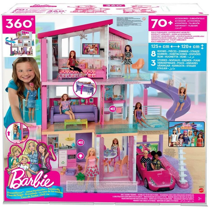 Barbie Dream House Luxury Home Rumah Barbie Shopee Indonesia