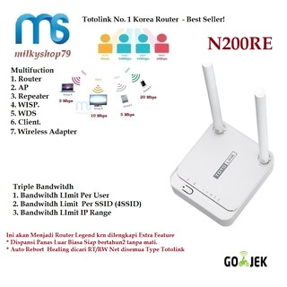 Totolink N200RE 300Mbps Wireless Router WR840N N301 WR820N