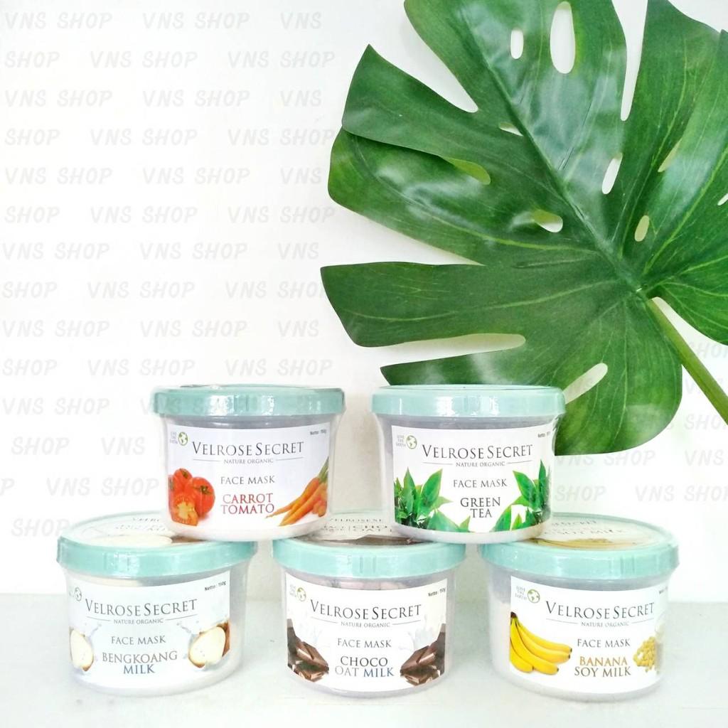 Lulur Wajah Velrose Secret Nature Organic Face Mask Original Bengkoang Milk Shopee Indonesia