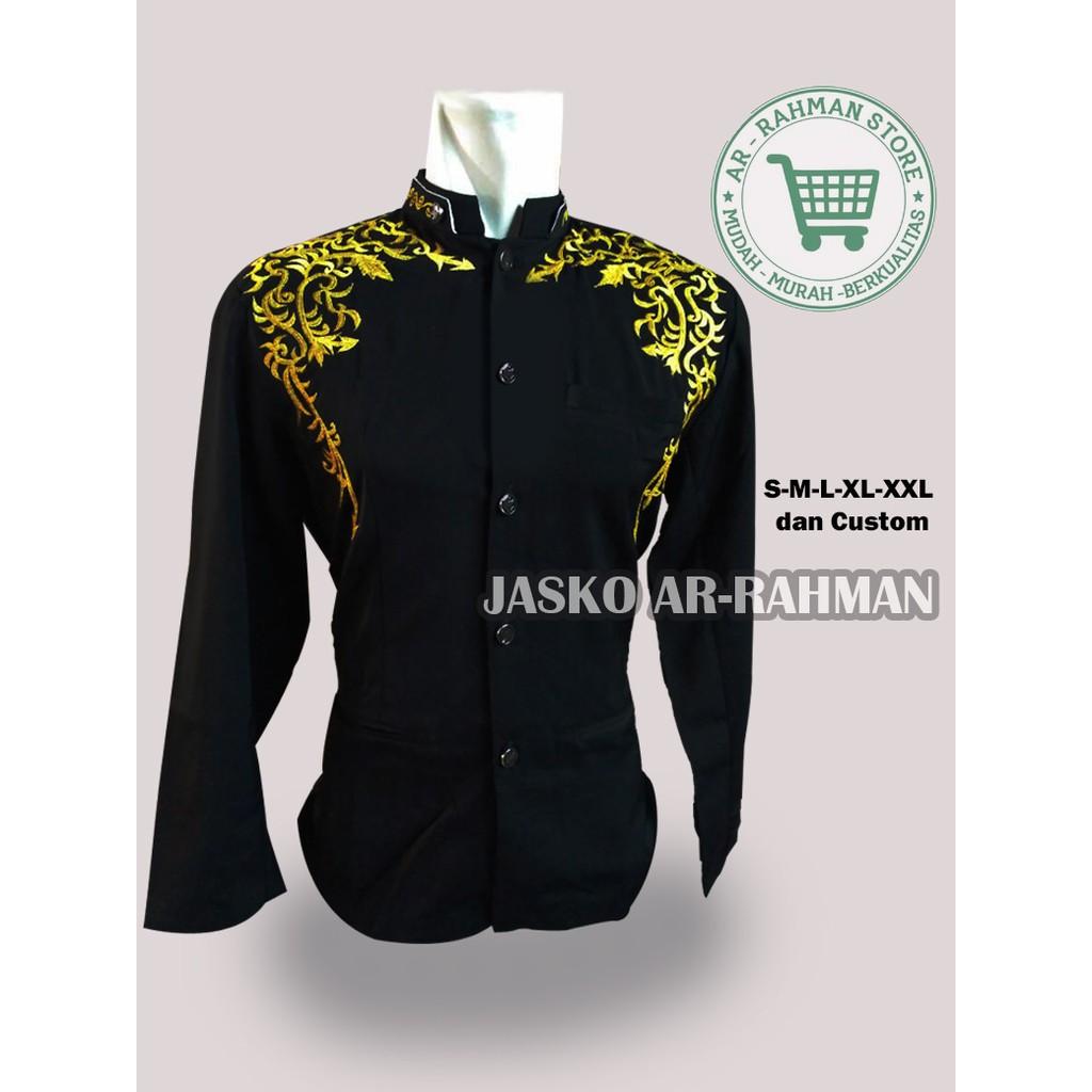 DISKON Jasko Jas Koko Al Hanif (Baju Koko) Hitam Kuliah muslim / spesial lebaran   Shopee Indonesia