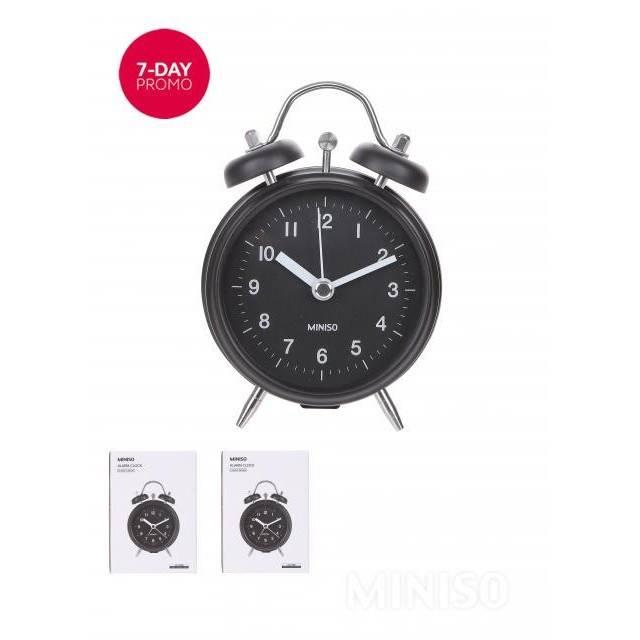Classic simple alarm clock Jam Waker Bulat MINISO  7e5d6b0a31