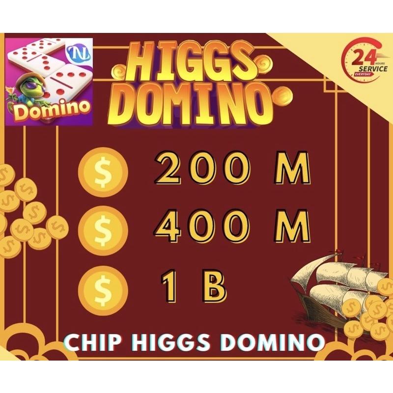 PROMO CHIP HIGGS DOMINO - KOIN CHIP HIGGS DOMINO - KOIN CHIP HIGGS DOMINO 200M - 1B - CHIP DOMINO